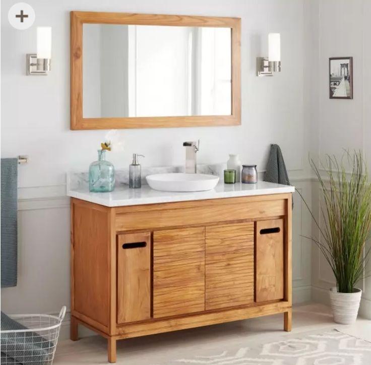 Pin By Stephanie Deberadinis On Bathroom Teak Vanity