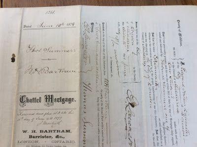 Olive Tree Genealogy Blog: 1879 Document Summers & Bartram, London Middlesex ...