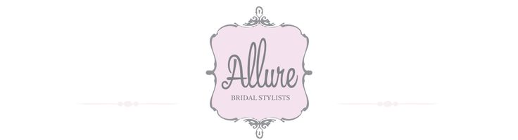 Logo and branding for Allure Bridal Stylists, mobile wedding hair and makeup stylists in south east Queensland.