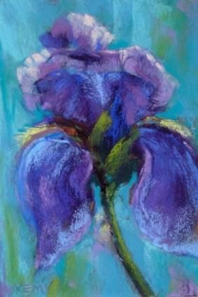 Iris Pastel Painting Painting By Pastel Art Pinterest