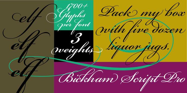 Bickham Script Pro® - Desktop font « MyFonts
