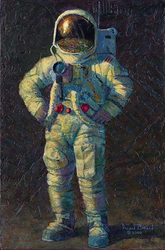 "Feelin´ Fine by Alan Bean LIMITED EDITION CANVAS Image size: 18""w x 27""h."