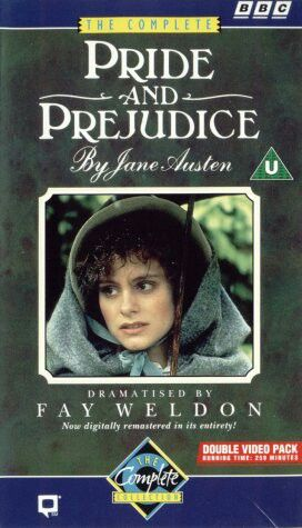 VHS cover of 1979 version of Pride and Prejudice.