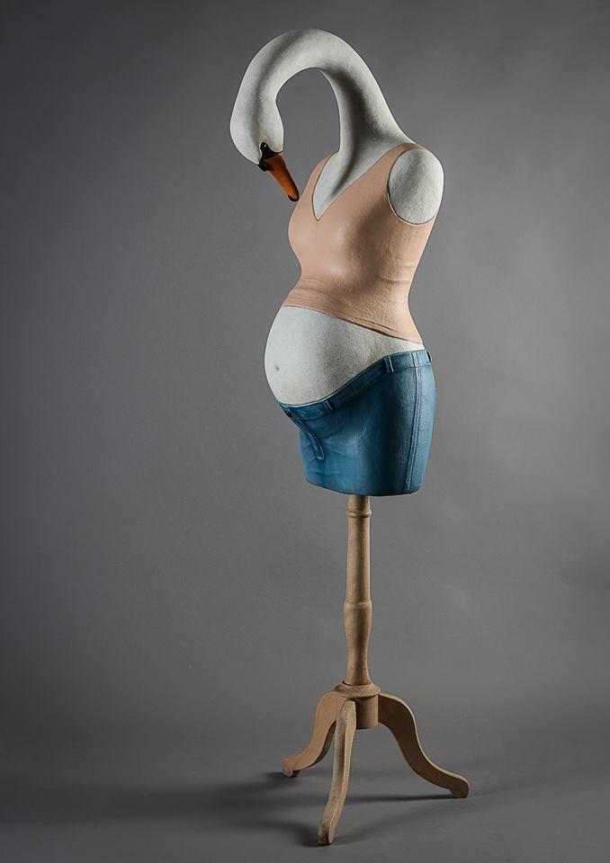 Melanie Bourlon Sculptures Papier Mâché