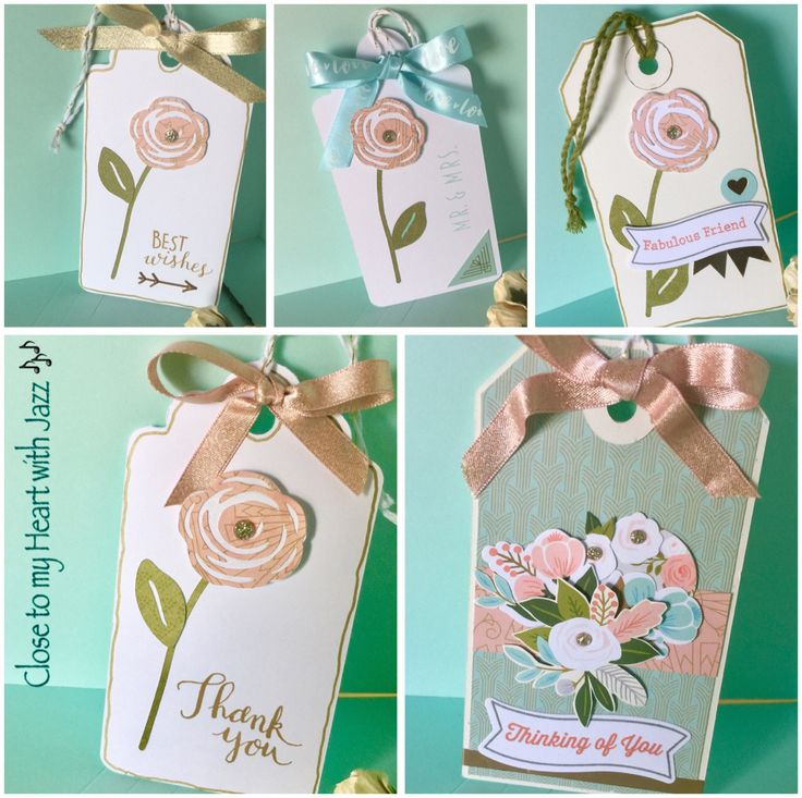 Created these tags with the Hello Lovely papers from CTMH.