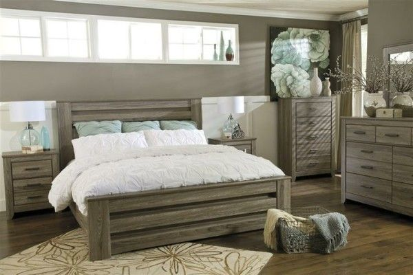 ashley furniture bedroom sets queen of vintage bed frames from grey engineered wood also hand knitted throw blankets inside wire storage baskets