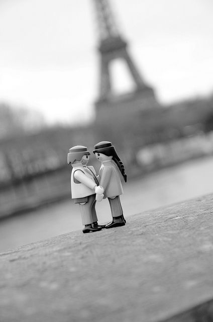 Playmobil....à paris...this may very well be the same spot I ask my wife to marry me in Paris.  LOVE!!!