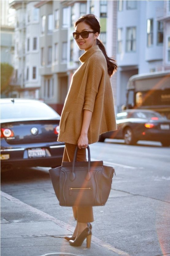 Love the oversized camel sweater
