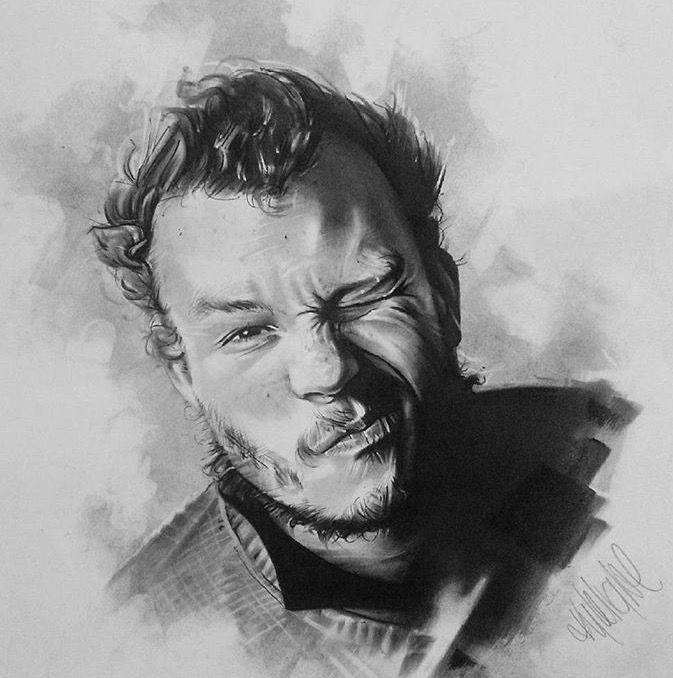 Heath Charcoal Original - size A2 portrait. R2,500.00 (incl. VAT). Framed (white wood)