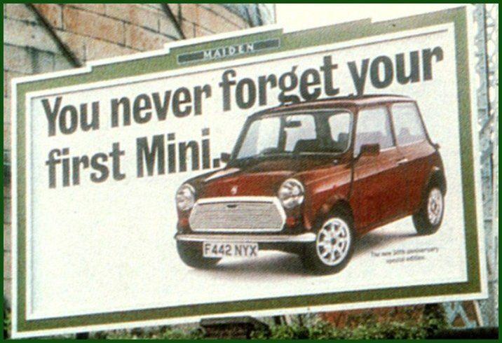 SOOOOOO TRUE - You never forget your first Mini! :( :)