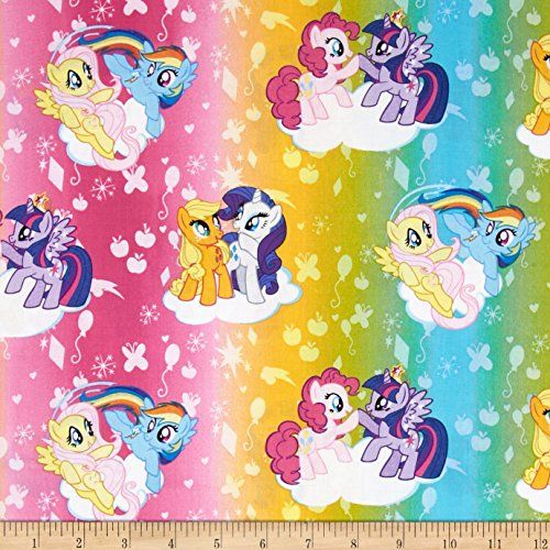 Hasbro My Little Pony Traditional Ombre Toss Multi Fabric...