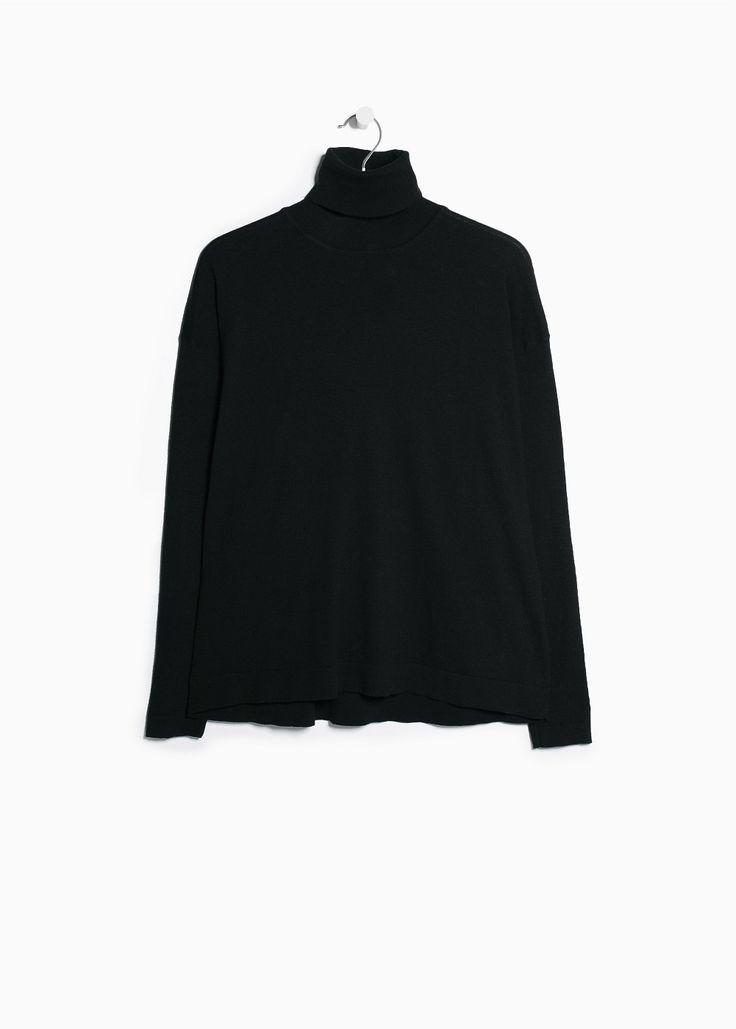 Sweter wywinięty dekolt - Kardigany i swetry dla Kobieta   OUTLET