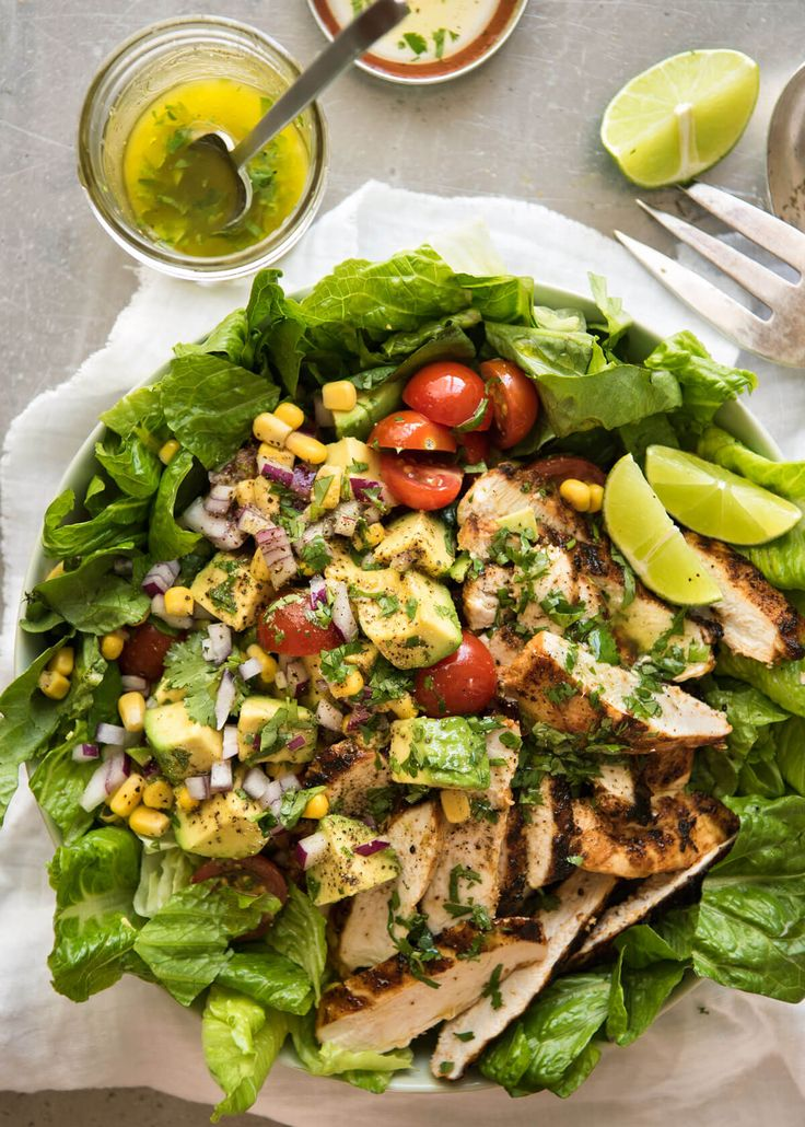 Loaded with all the good stuff! This Mexican Chicken Avocado Salad is incredible! www.recipetineats.com