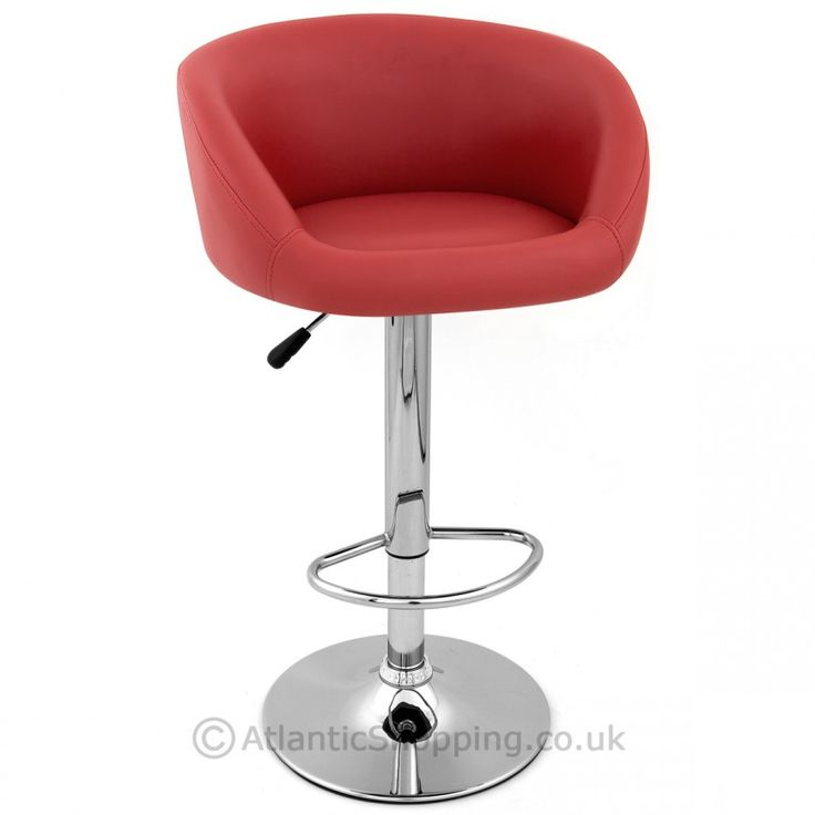 Red Faux Leather Eclipse Stool Purple Furnitureswivel Bar Stoolskitchen