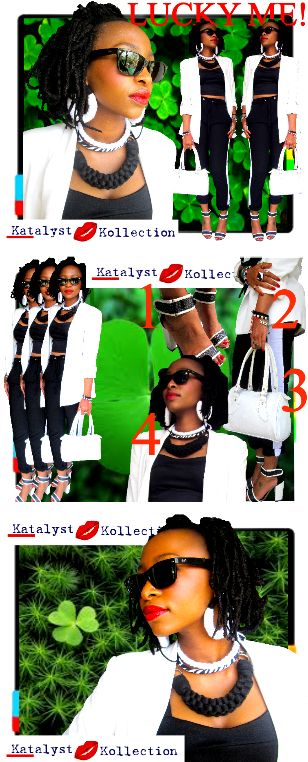 #fashionstylist and #blogger @Lesego Moripe wearing #neckpieces from our upcoming range