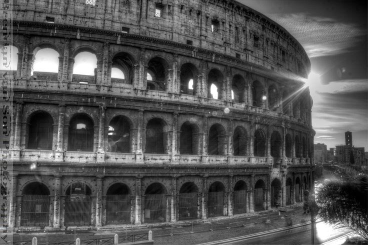 Colosseum [IMAGE by Brendan van Son. http://www.brendansadventures.com/photo-of-colosseum-black-white/ ]