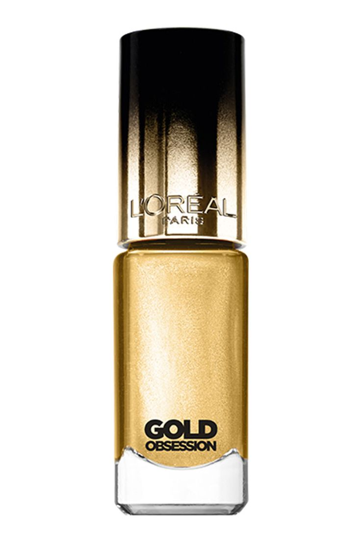 Or jaune solaire, Vernis à Ongles Color Riche, collection Gold Obsession,pure gold, L'ORÉAL PARIS.6,20 euros.
