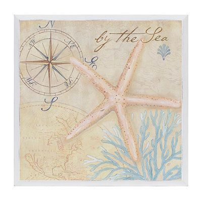 By the Sea Nautical Wall Plaque