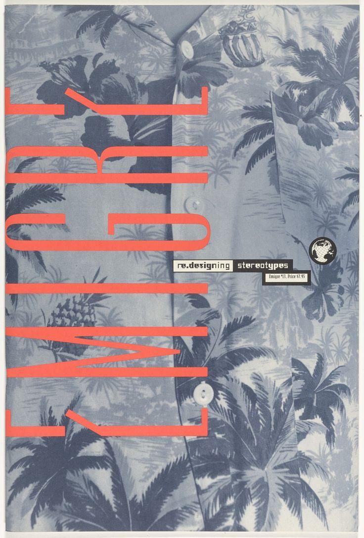 Rudy VanderLans, Zuzana Licko Emigre 13, Redesigning Stereotypes 1989
