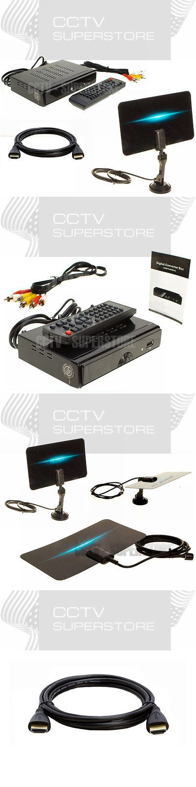 Antennas and Dishes: Hdtv Digital Converter Box Flat Digital Indoor Tv Antenna Hdmi Output -> BUY IT NOW ONLY: $34.45 on eBay!
