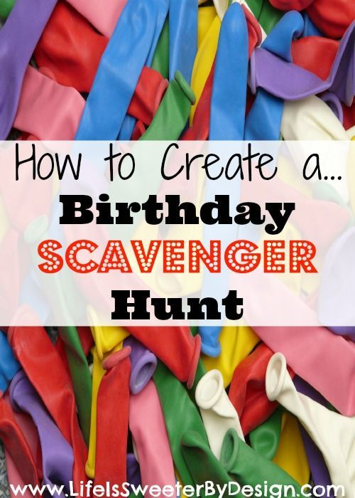birthday scavenger hunt
