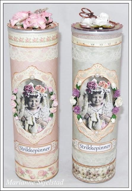 Mariannes papirverden.: Strikkepinnebokser - Pion Design