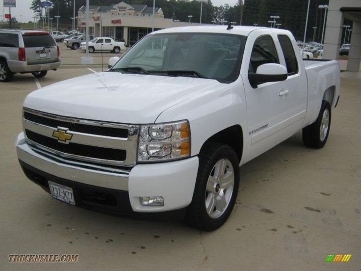 chevrolet silverado lt extended cab in summit white