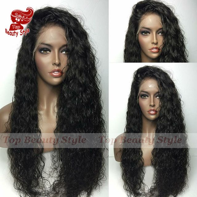 Hot!Afro Loose Curly Synthetic Lace Front Wig Natural Black Heat Resistant Fiber Hair Wig Curly Synthetic Wigs For Black Women