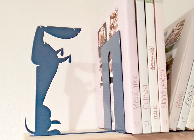Dachshund - Dog Bookend - any colour by KureliDesign on Etsy
