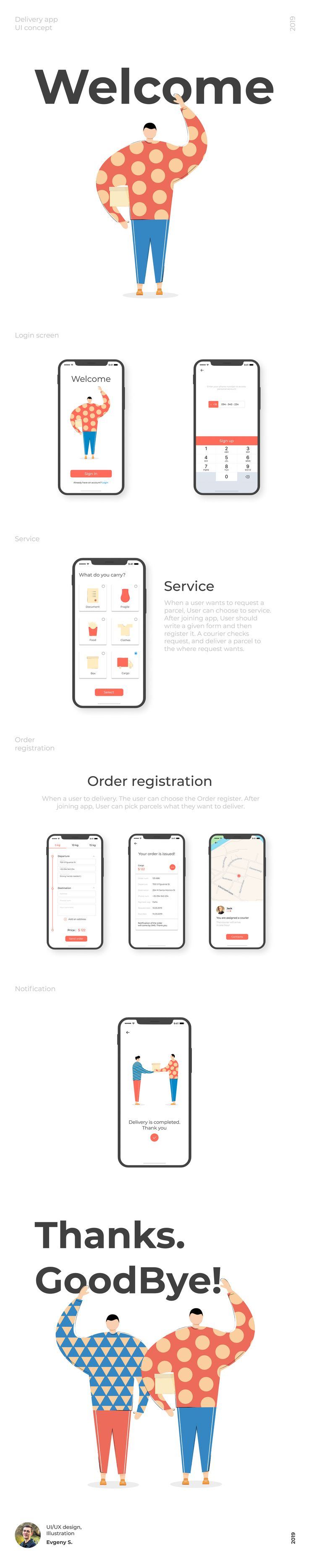 Behance Search Delivery app, Concept, Jobs apps