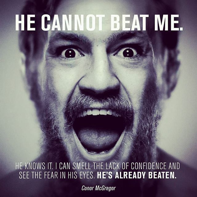 Conor McGregor UNBEATABLE Motivational Quote : if you love #MMA, you'll love the #UFC & #MixedMartialArts inspired fashion at CageCult: http://cagecult.com/fitness