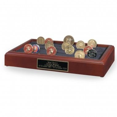 Star Legacy Table Top 11 Row Challenge Coin Holder Urn - 115 C