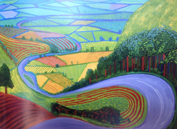 Yorkshire Landscape David David Hockney Art David