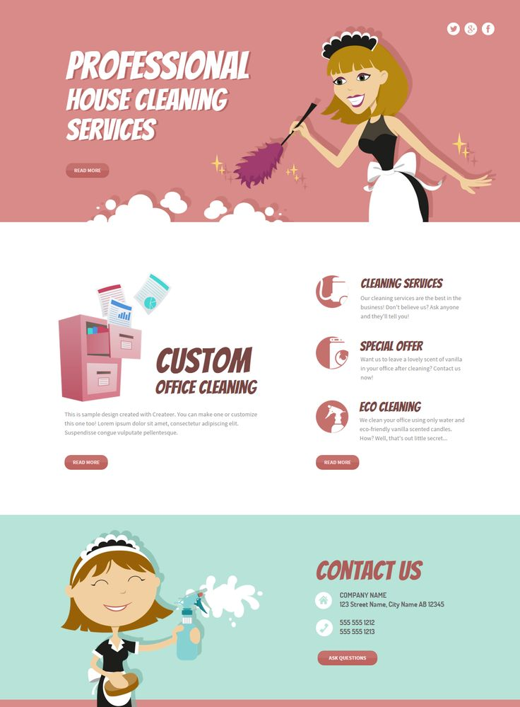 Fully editable House Cleaning Services webiste template  #website #design #webdesign #business #createer