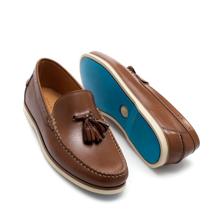 DOCKSIDE MOCCASIN WITH TASSELS - Moccasins - Shoes - Man | ZARA United States