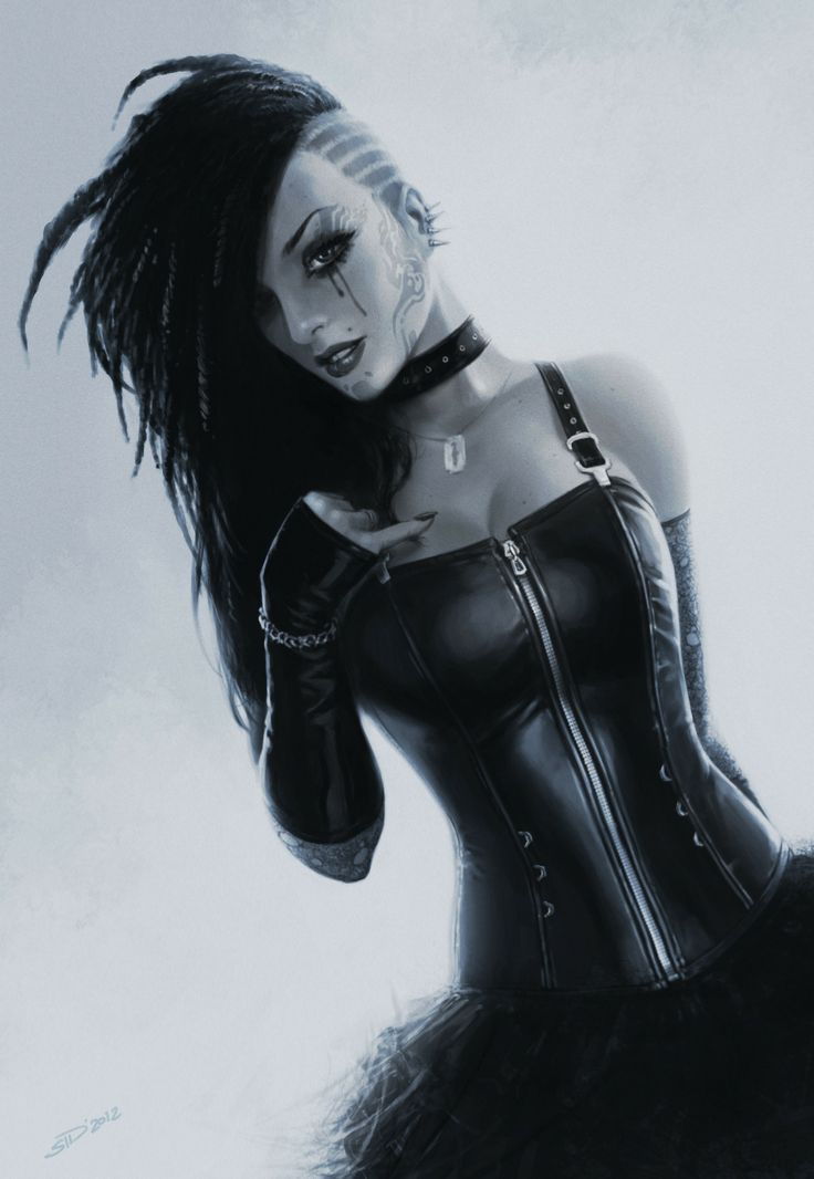 Scifidelic Cyber punk girl, I know not entirely vintage....but imagine it. You know it's gonna look awesome!:
