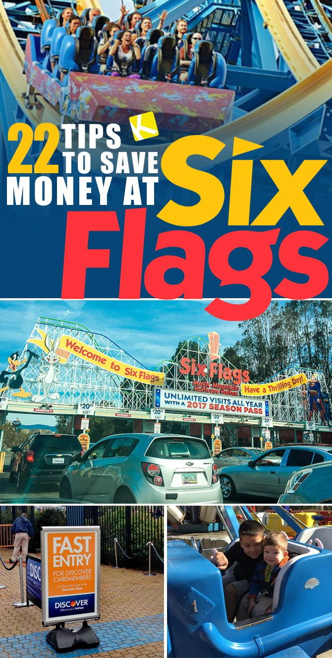 22 Tips To Save Money At Six Flags And Avoid Getting Ripped Off The Krazy Coupon Lady Six Flags Six Flags Great Adventure Six Flags Over Texas