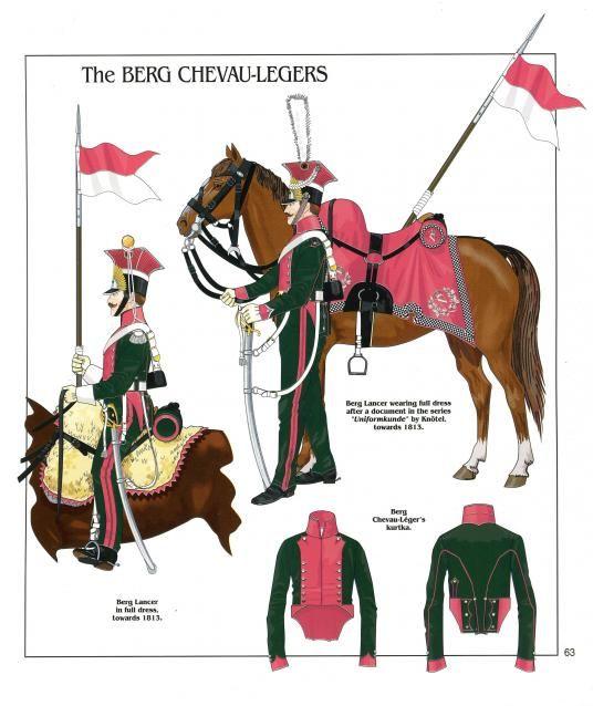 Lancieri del rgt. cavalleggeri di Berg, successivamente denominato 3 rgt. lancieri di Berg della guardia imperiale francese