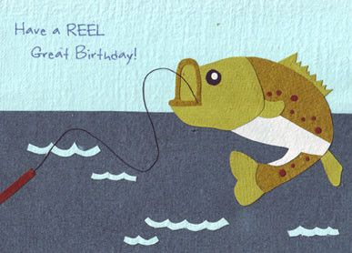 17 best images about cards and gifts on pinterest cards for Fishing birthday cards