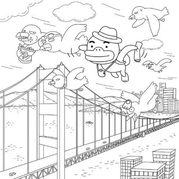 Kakao Friends Story Coloring Book By BookAdult