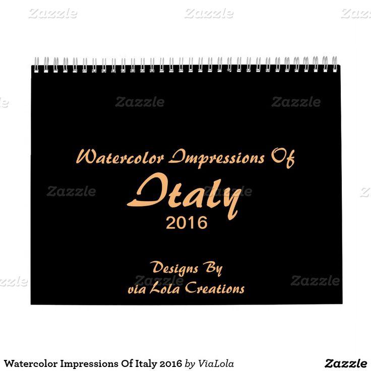 Акварельные Впечатления Италии 2016 года календарь
