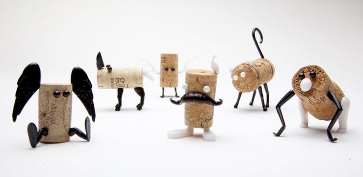 DIY cork stopper animals by reddish studio + oded friedland