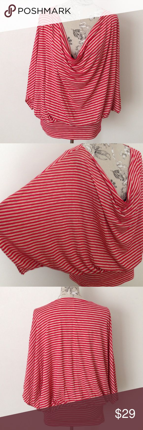 "Cha Cha Vente Stripe Batwing Top XL Excellent condition. Batwing. Wide band 6"" at bottom. cha cha vente Tops"