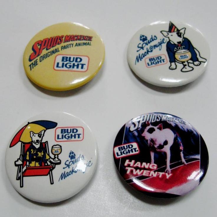 Bud Light Spudz buttons