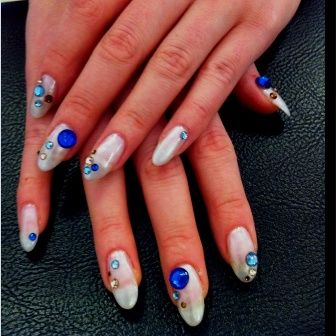 crystal nails are a new form of dazzling nail art design here are our favorite