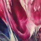Magenta Glory, an encaustic painting