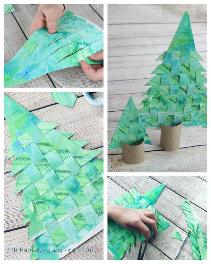 Woven Paper Christmas Tree – Das Klassenzimmer am Küchentisch