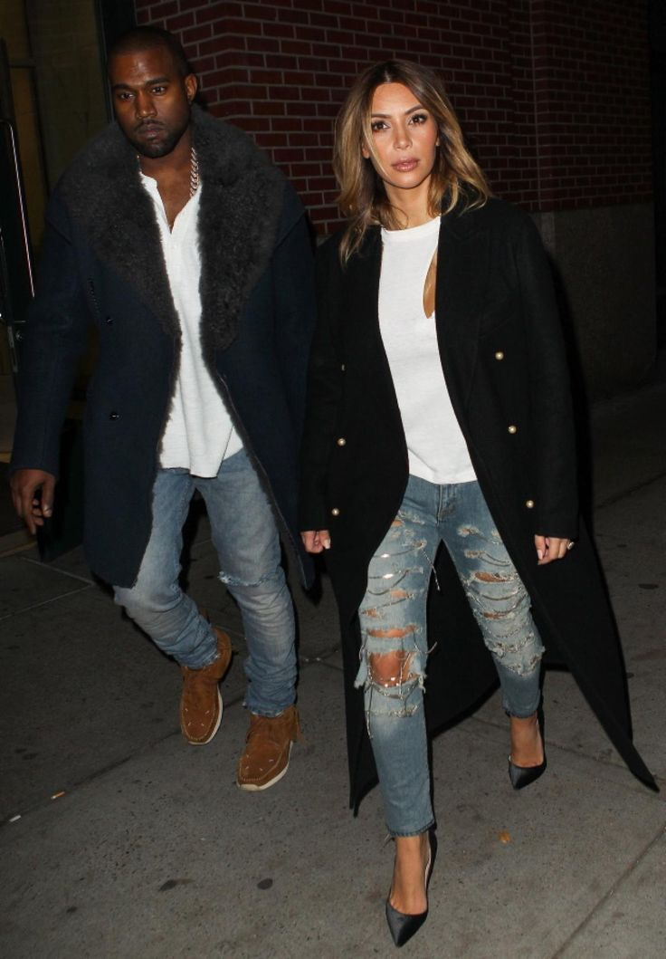 Kim Kardashian and Kanye West are the perfect match -- especially when it comes to their clothing.  See all their best matching outfits ...