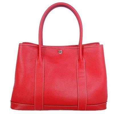 Hermes >  Garden Party Bags >  Hermes Garden Party 36CM Bag Clemence Red Replica