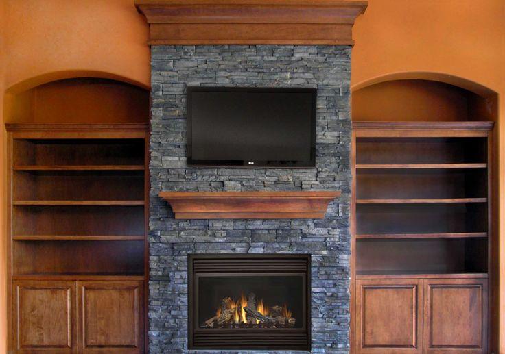Design Idea: Contemporary Rustic Fireplace | Contemporary ...